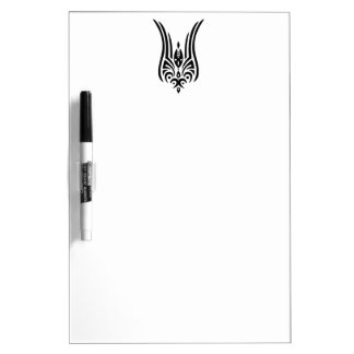 BLACK Tribal Tattoo - tulip + your ideas Dry-Erase Board