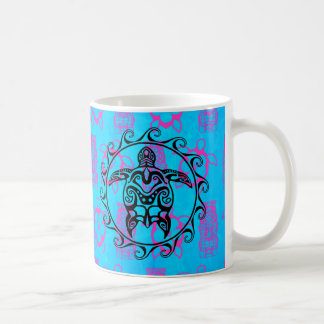 Black Tribal Turtle Coffee Mug