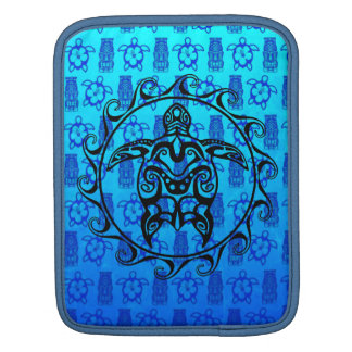 Black Tribal Turtle iPad Sleeve