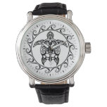 Black Tribal Turtle Wristwatches