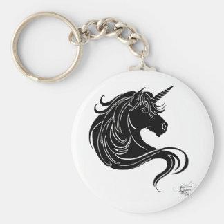 black tribal unicorn keychain