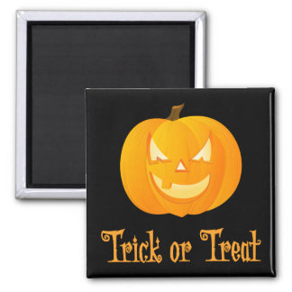 Black Trick Or Treat Halloween Magnets