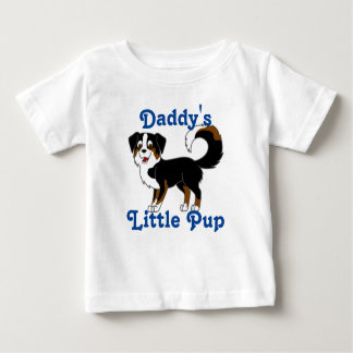 Black Tricolor Australian Shepherd Dog Baby T-Shirt
