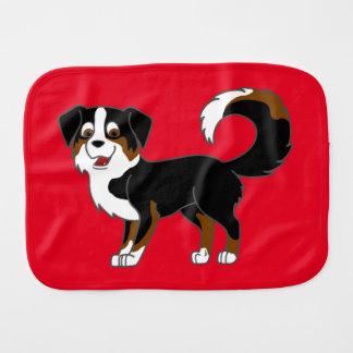 Black Tricolor Australian Shepherd Dog Burp Cloth