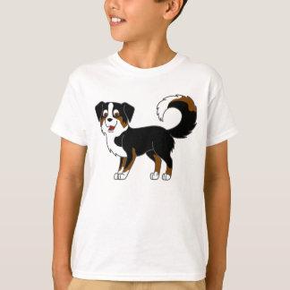 Black Tricolor Australian Shepherd Dog T-Shirt