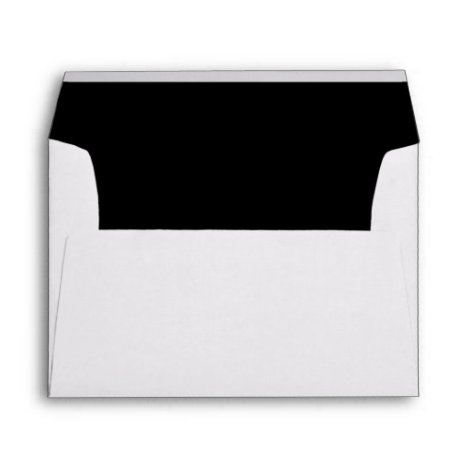 Black Trim Script Return Address Mailing Envelope