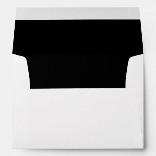 Black Trim Script Return Address Mailing Envelope