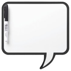 Black Trim Speech Bubble Wall Decor Customize This Dry Erase Board at Zazzle