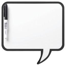 Black Trim Speech Bubble Wall Decor Customize This Dry Erase Board