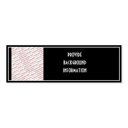 Black Trimmed Photo Template Double-Sided Mini Business Cards (Pack Of 20)