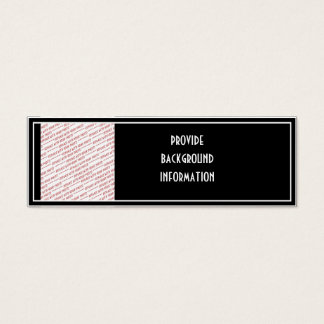 Black Trimmed Photo Template Mini Business Card