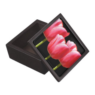 Black Trio Tulip Stems Gift/Jewelry Box