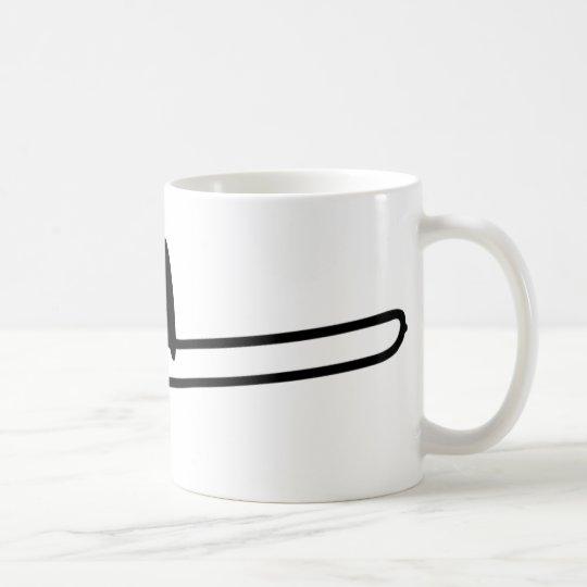 black trombone instrument icon coffee mug