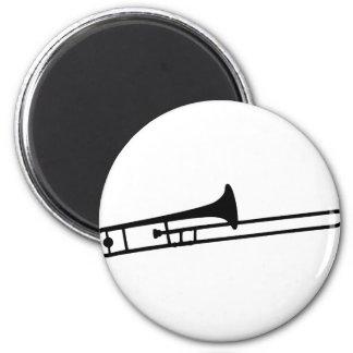 black trombone instrument icon magnet