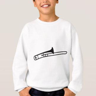 black trombone instrument icon sweatshirt