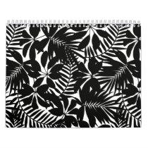 Black tropical calendar