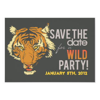 "Black Tropical Themed Party Invite 5"" X 7"" Invitation Card"
