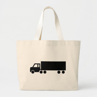 black truck icons large tote bag