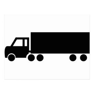 black truck icons postcard