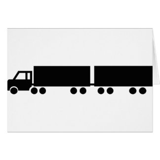 black truck trailer icon card