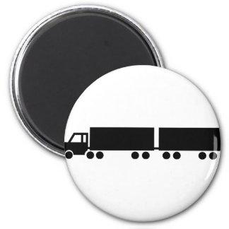black truck trailer icon magnet