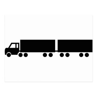 black truck trailer icon postcard