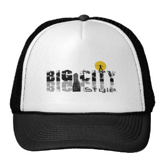 "Black Trucker cap, logo ""Big City Style "" Trucker Hat"