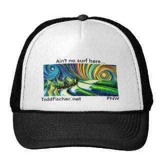 """Black Trucker hat, Ain""""t no surf here"""