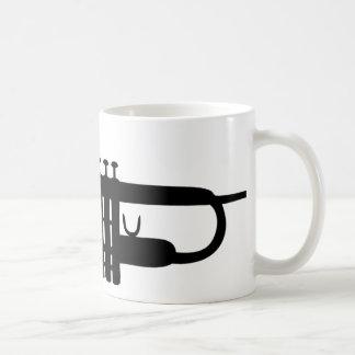 black trumpet icon classic white coffee mug