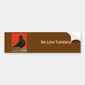 Black Tumbler Watercolor Bumper Sticker