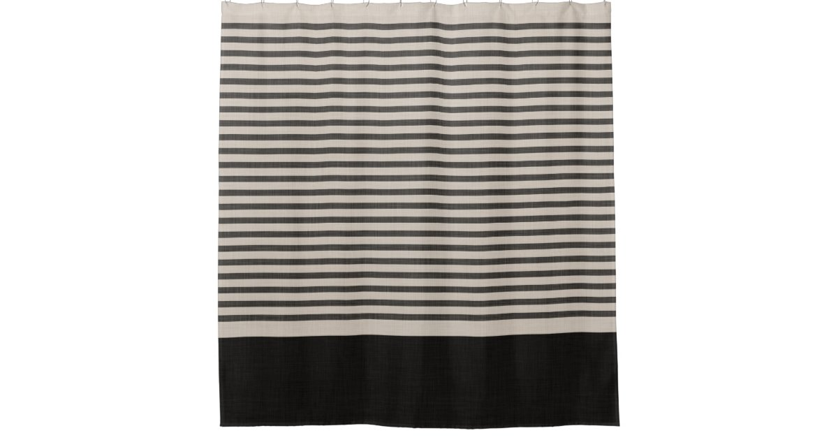 Black Turkish Stripes Farmhouse Bathroom Decor Shower Curtain Zazzle Com