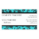 Black & Turquoise Business Card