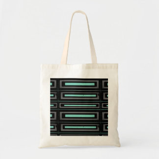 Black turquoise, gray distressed geometric pattern tote bag