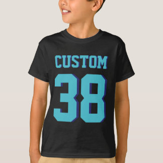 Black & Turquoise Kids | Sports Jersey Design T-Shirt