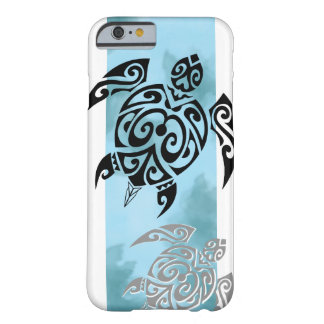 Black turtle 2 in blue funda de iPhone 6 barely there