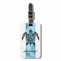 Black turtle 2 luggage tag