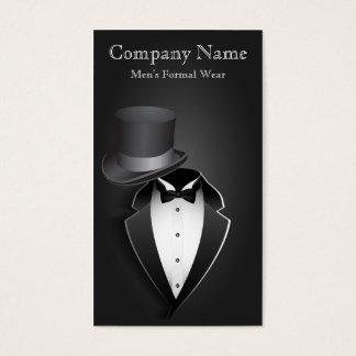 Black Tux Men's Formal Wear Business Card