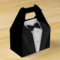 Black Tuxedo and Wedding Dress Favor Box