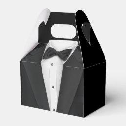 Black Tuxedo and Wedding Dress Favor Box