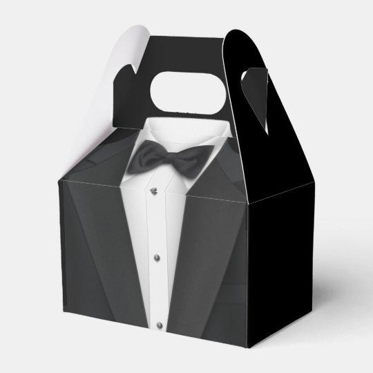 Wedding Gown Boxes: Black Tuxedo And Wedding Dress Favor Box