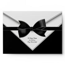 Black Tuxedo Black Tie Black Envelopes