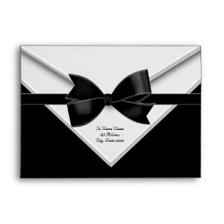 Black Tuxedo Black Tie Black Envelopes