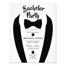 Black Tuxedo Bow Tie Bachelor Party Invite
