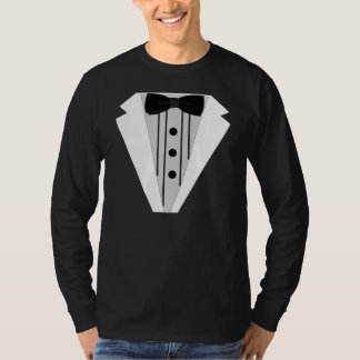 Black Tuxedo Bow Tie Formal T-Shirt