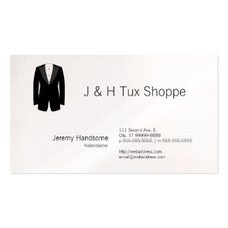 Black Tuxedo Double-Sided Standard Business Cards (Pack Of 100)