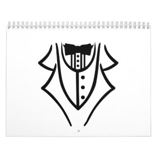 Black tuxedo calendar