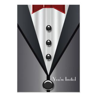 Black Tuxedo Formal Event Black Invitations
