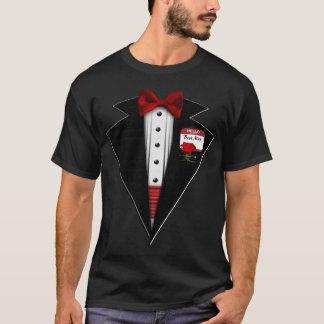 Black Tuxedo Formal Fun T-Shirt