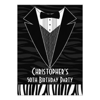 Black Tuxedo Men s 50th Birthday Party Invitation