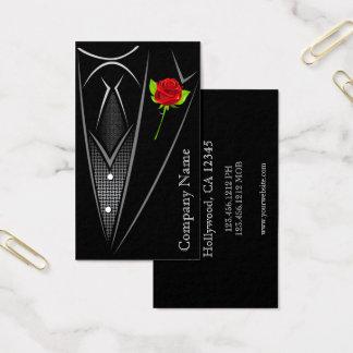 Black Tuxedo Men's Wear Business Card